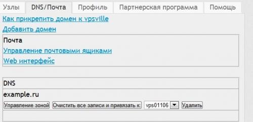 Редактирование доменных зон DNS