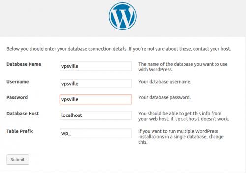 Параметры подключения к базе данных Wordpress