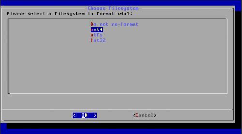 Форматирование диска в ext4 для установки Android
