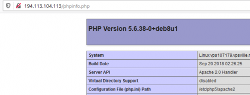 версия php в VestaCP